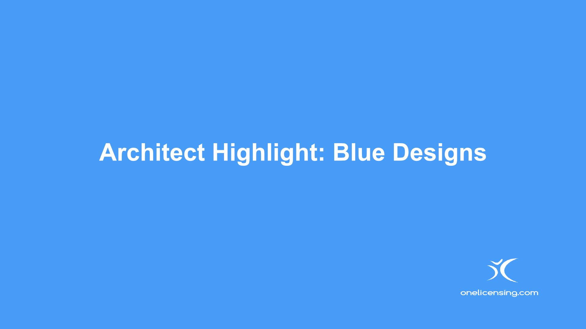 Architect Highlight Blue Designs