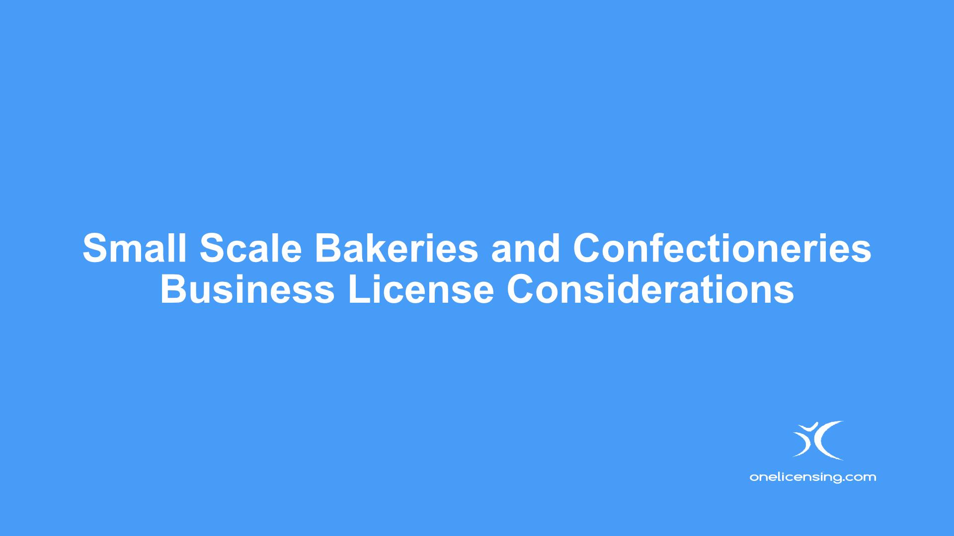 Bakeries Confectionaries License