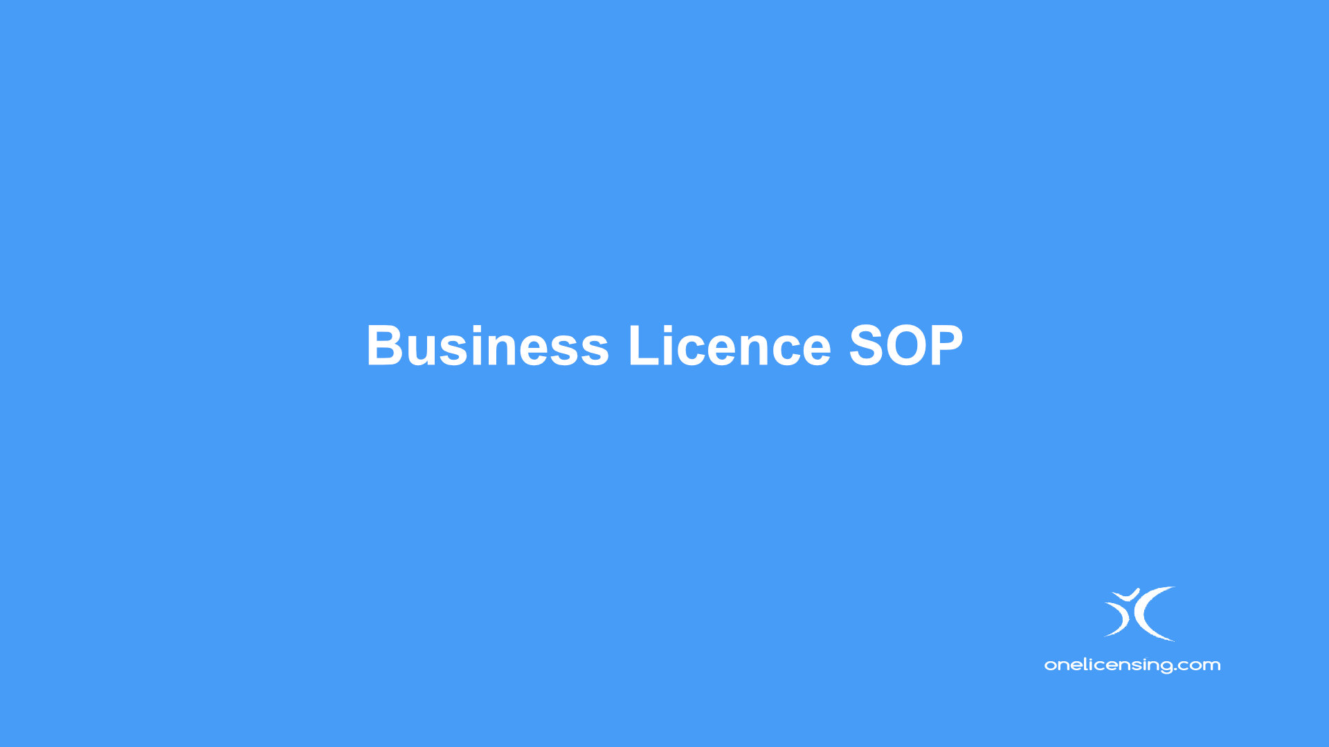 Business License SOP