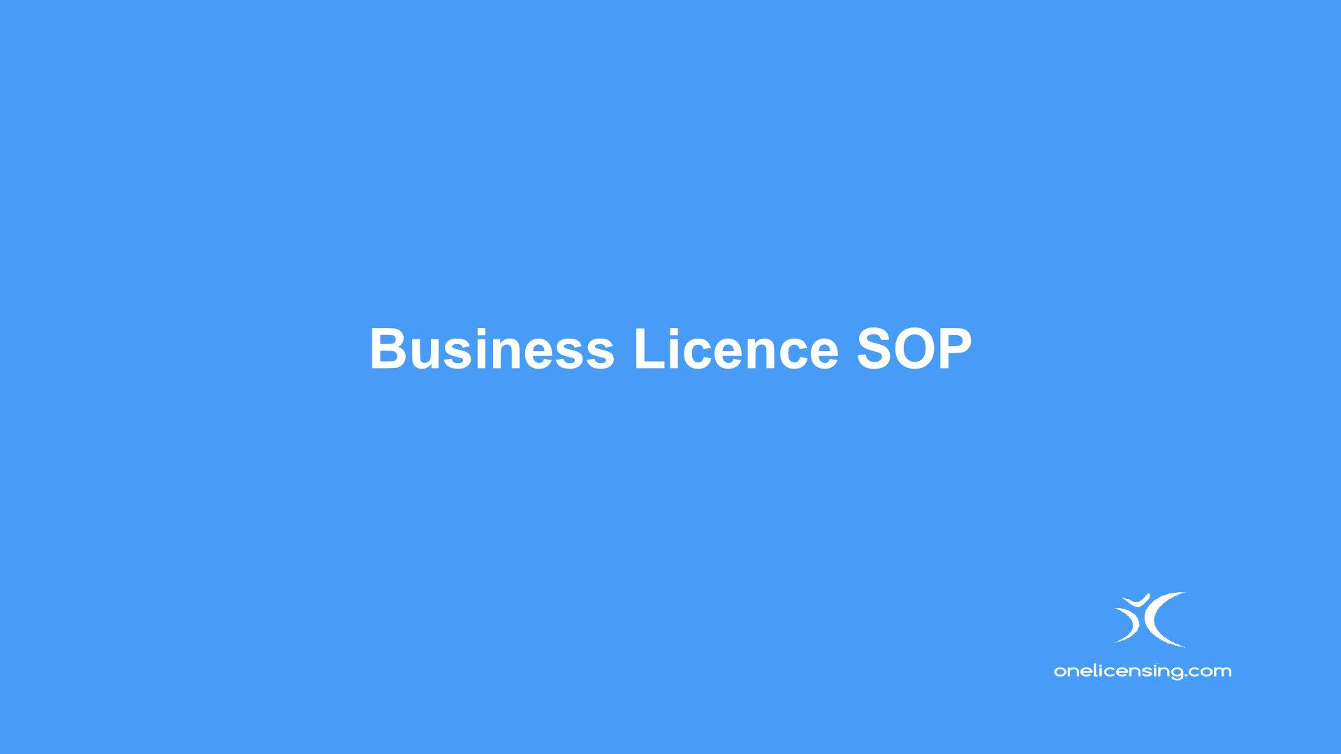 Business License SOP