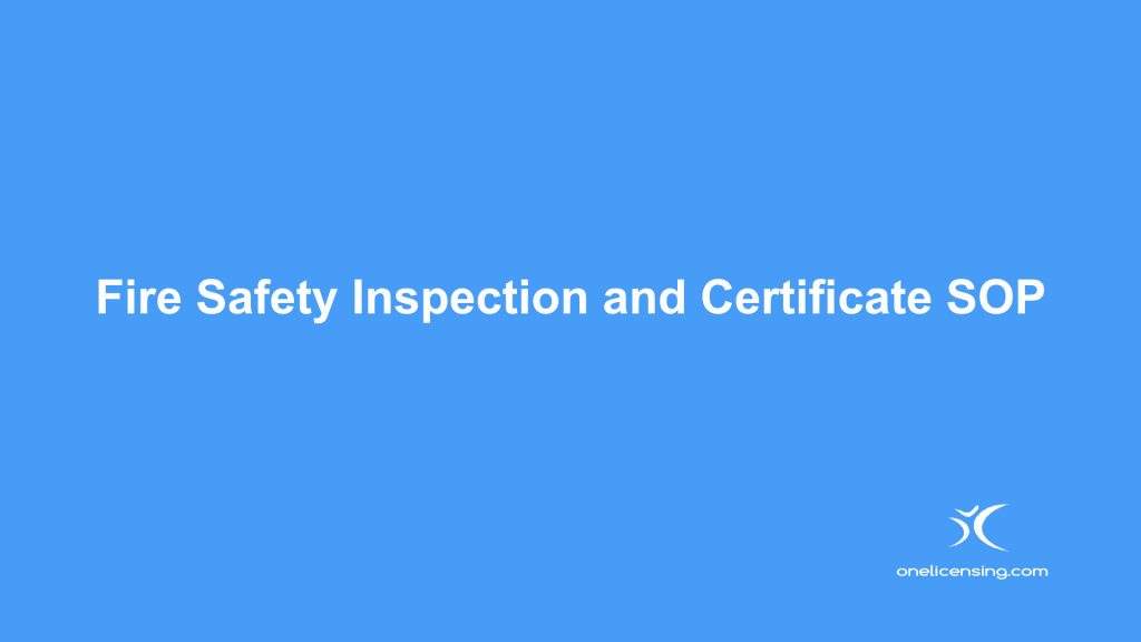 Fire Safety Inspection and Certificate SOP